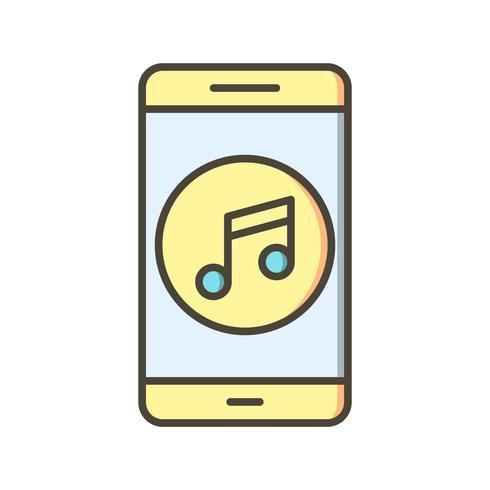 Musique Mobile Application Vector Icon