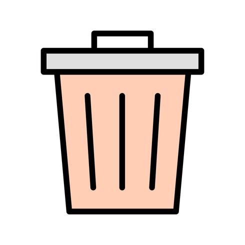 Icona di vettore dei rifiuti