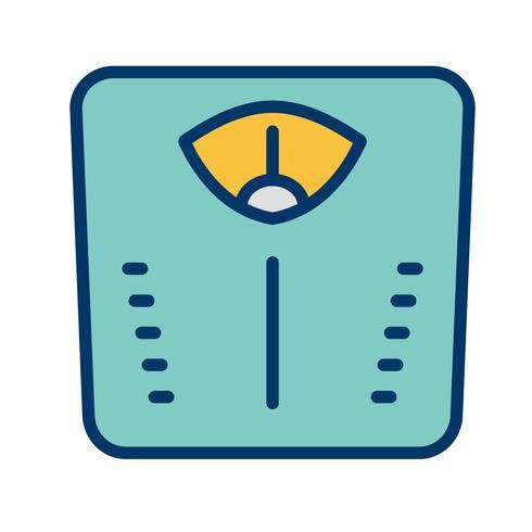 Icono de máquina de peso vectorial