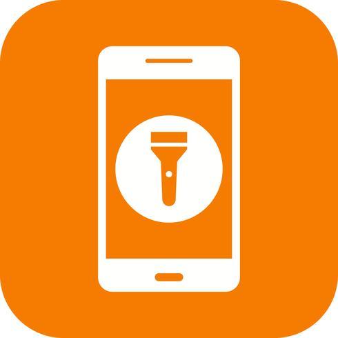 Flash Light Mobile Anwendungssymbol Vektor