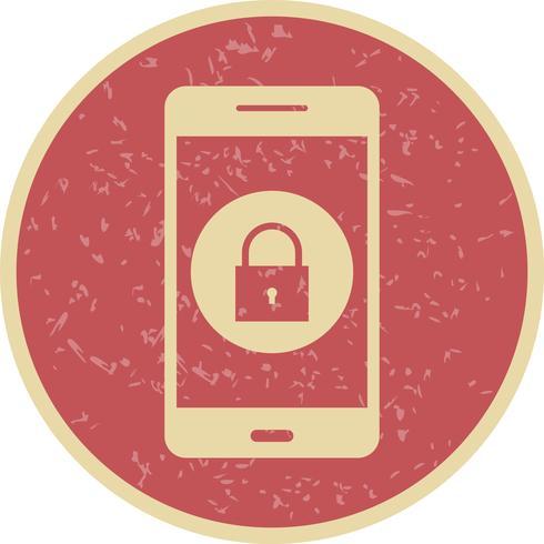 Lock Mobile Application Vector Icon