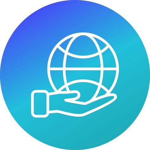 Terra na mão ícone Vector