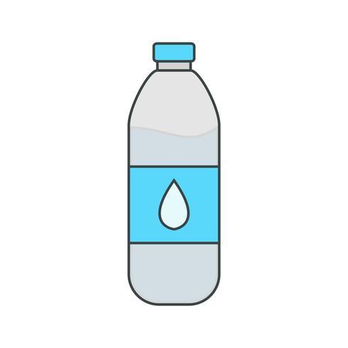 Icône de bouteille d'eau de vecteur