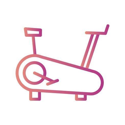 Icône de machine à vélo Vector Vector