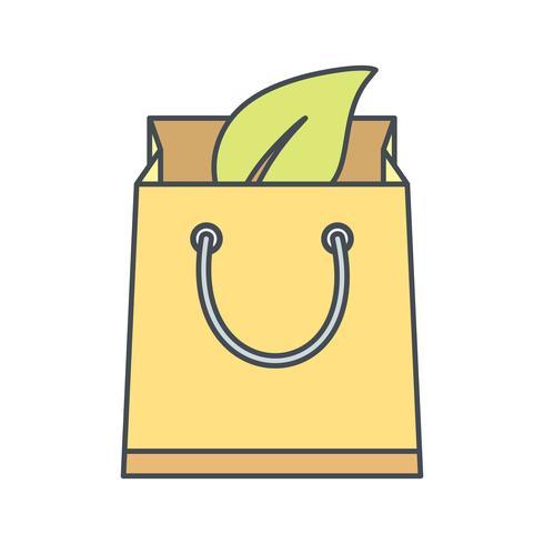 Icône de vecteur sac Eco