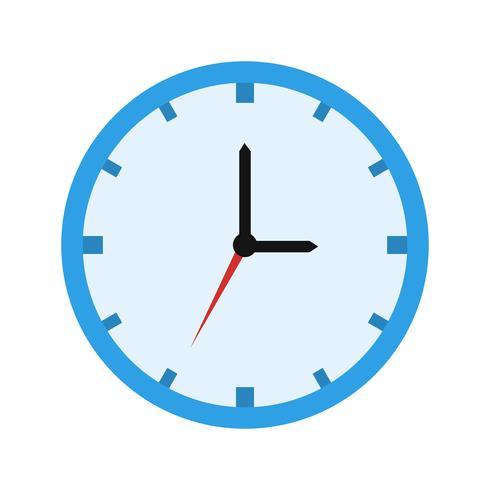 Icône de vecteur d'horloge