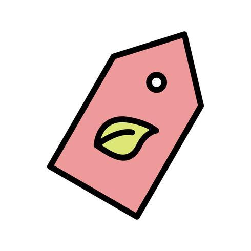 Etiqueta ecológica Vector icono