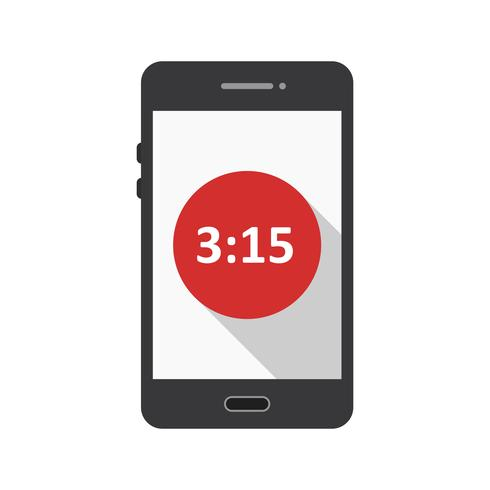 Tempo Mostra l'icona di vettore dell'applicazione mobile