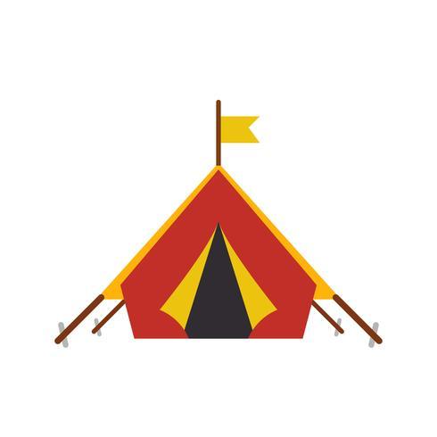 icona di vettore di tenda