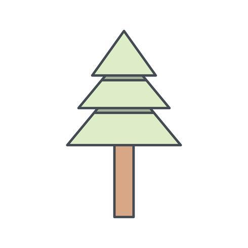 Icona di vettore dell'albero di pino