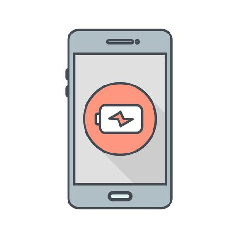 Mobiele applicatie vector pictogram opladen