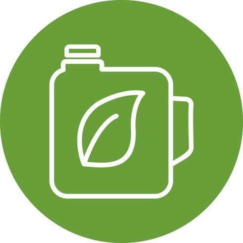 Icône de vecteur d'huile Eco