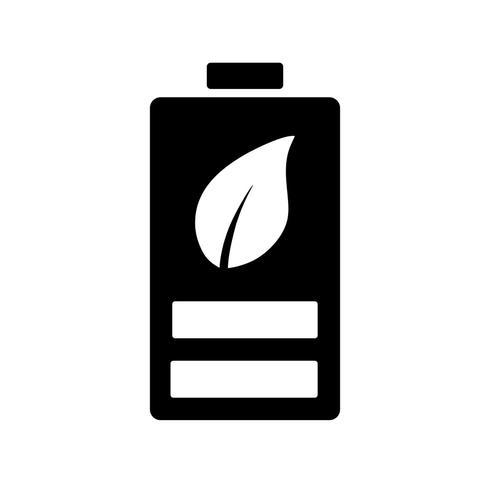 Eco-Batterie-Vektor-Symbol