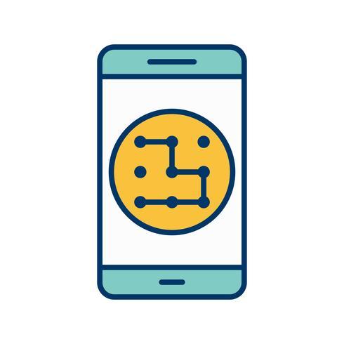Muster-Mobile-Anwendungs-Vektor-Symbol