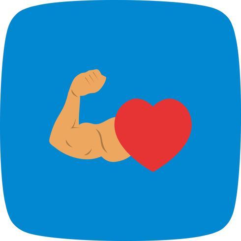 Icône de coeur en santé vecteur