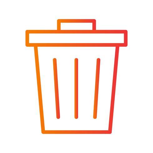 Icône de vecteur de déchets