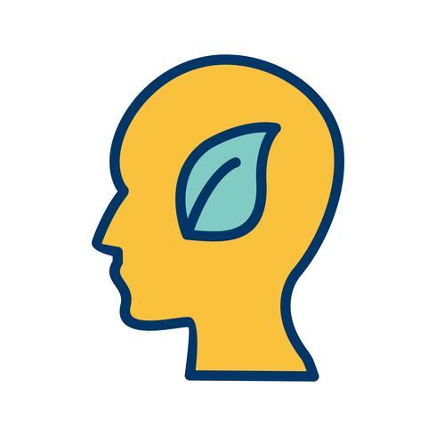 Icona di vettore di mente ecologica