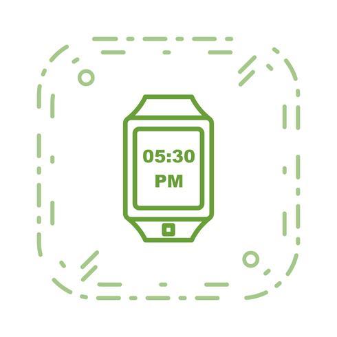Vector icono de reloj inteligente