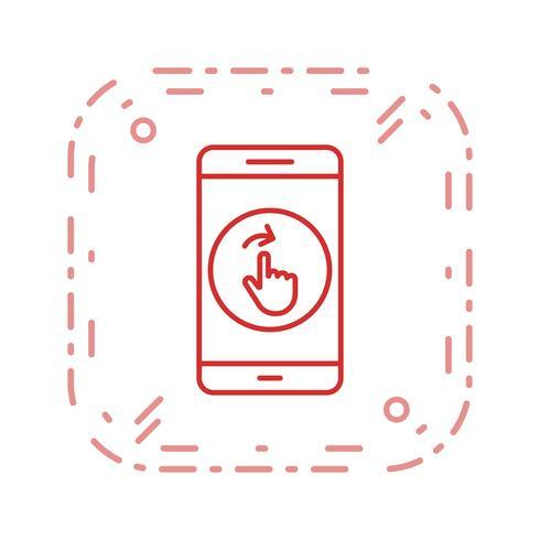 Swipe mobiele applicatie vector pictogram