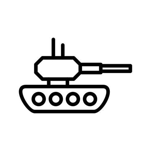 Tank-Vektor-Symbol