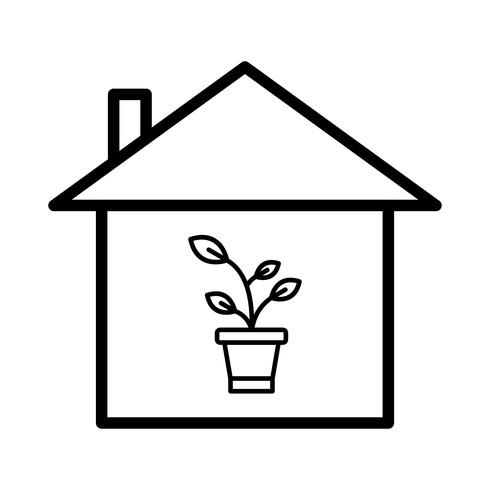 Pflanzenhaus Vektor Icon