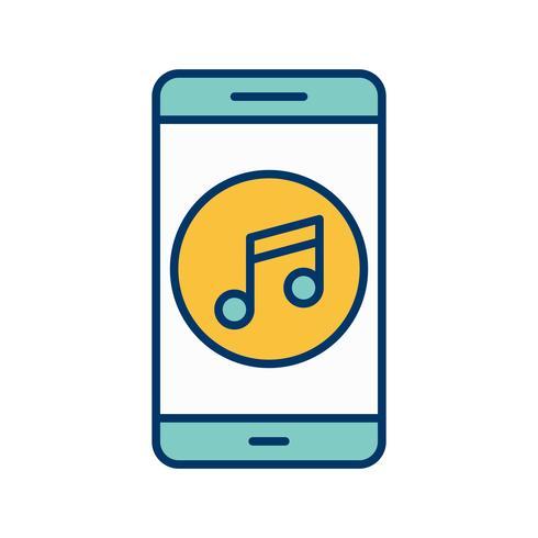 Musik mobile Anwendungssymbol Vektor