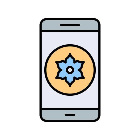 Icona di vettore di applicazione mobile Galleria