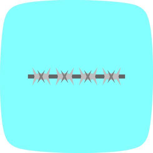 fil de fer barbelé Vector Icon