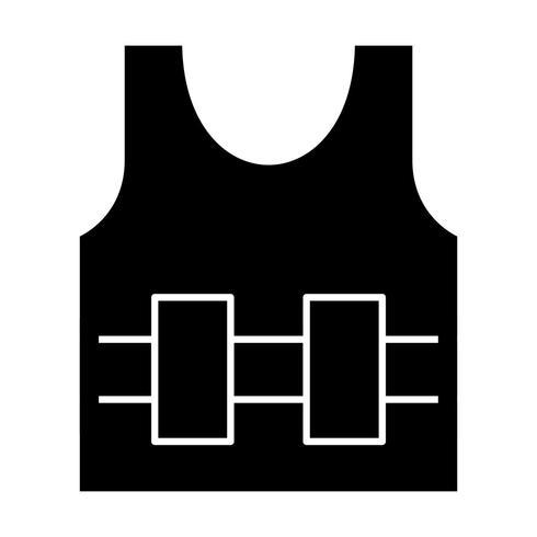 Kugelsichere Jecket-Vektor-Ikone