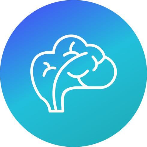 Icône de cerveau de vecteur