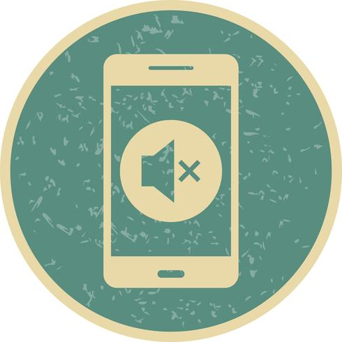 Stille mobiele applicatie Vector Icon
