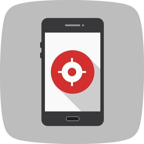 GPS Mobile Anwendungssymbol Vektor