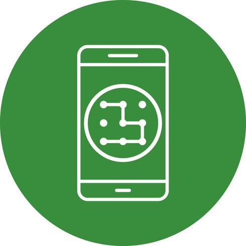 Icona di vettore di applicazione mobile del modello