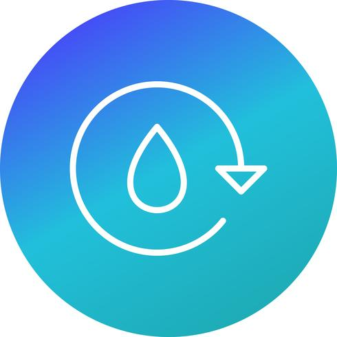 Wasser recyceln Vektor Icon