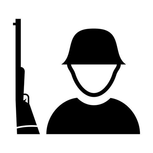 icono de vector de soldado