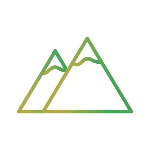 Icona di vettore di montagne