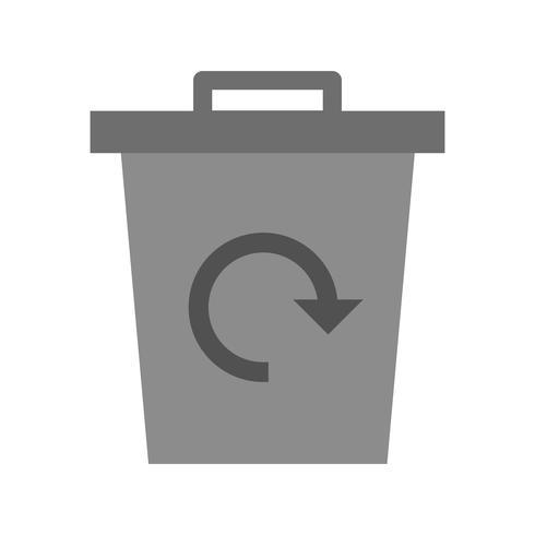 L'immondizia ricicla l'icona di vettore