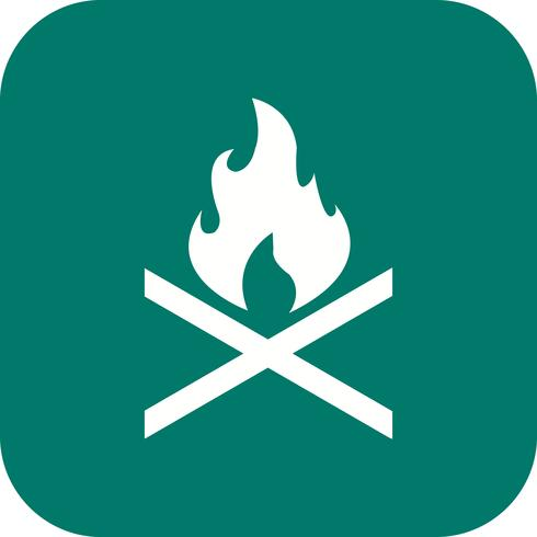 Icona di vettore del fuoco dell'osso