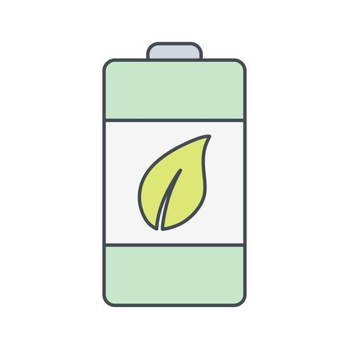 Ícone de vetor de bateria eco