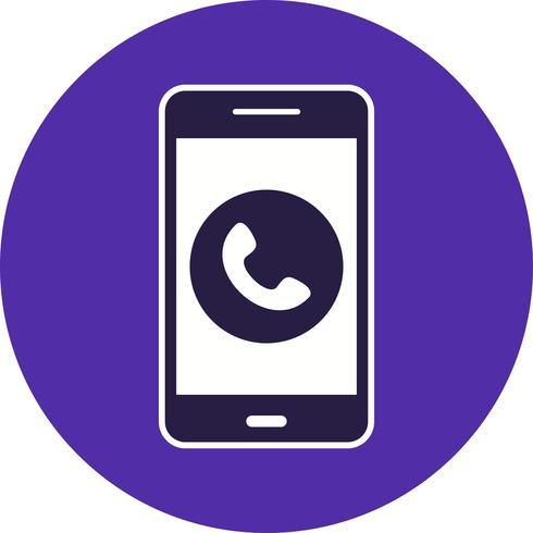 Oproep mobiele applicatie vector pictogram