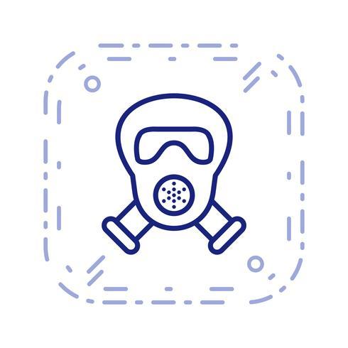 Icona di vettore della maschera antigas