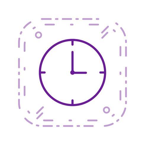 Icona di vettore dell'orologio