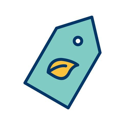 Icona di vettore dell'etichetta di Eco