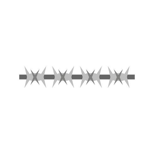 Icono de Vector de alambre de púas