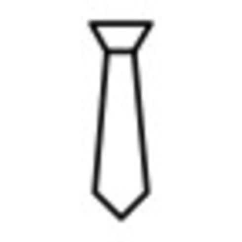 Ícone de vetor de gravata