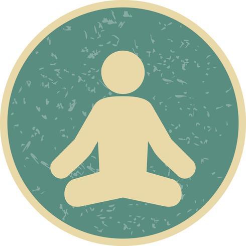 Icona di yoga vettoriale