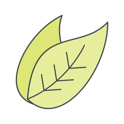 Icona di vettore di foglia