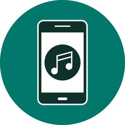 Icona di vettore di applicazione mobile di musica