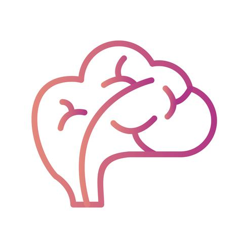 Icona del cervello vettoriale