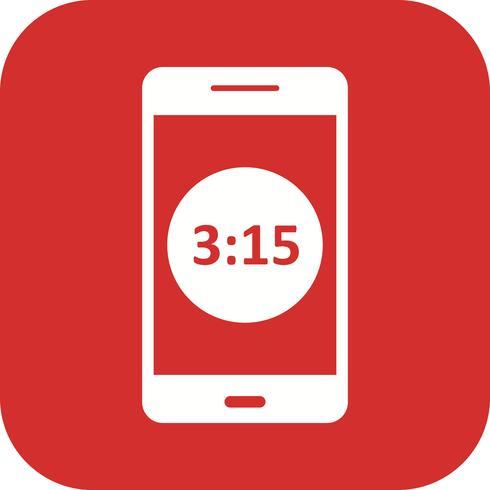 Zeitanzeige Mobile Anwendungssymbol Vektor
